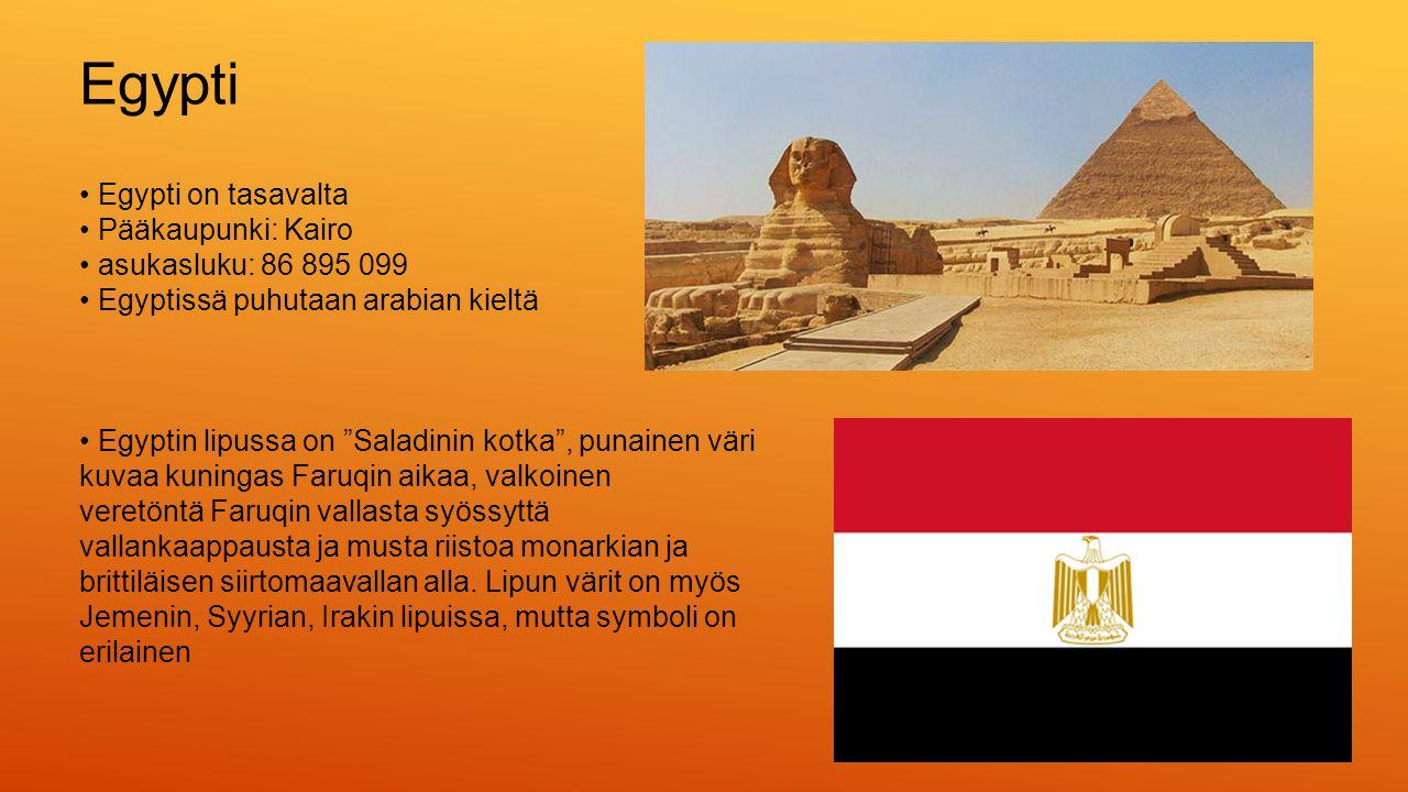 Egypti • Egypti on tasavalta • Pääkaupunki: Kairo