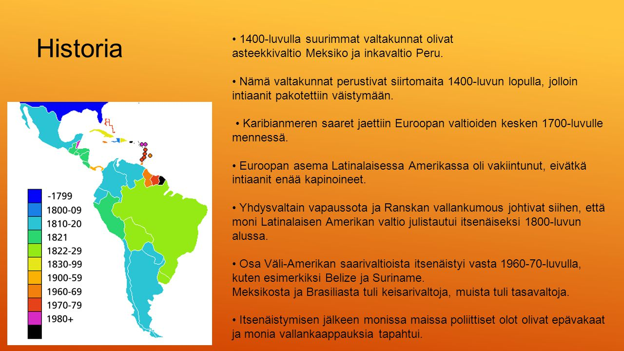 Historia • 1400-luvulla suurimmat valtakunnat olivat