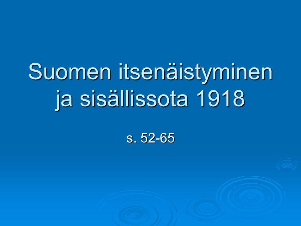 Suomen itsenäistyminen ja sisällissota 1918