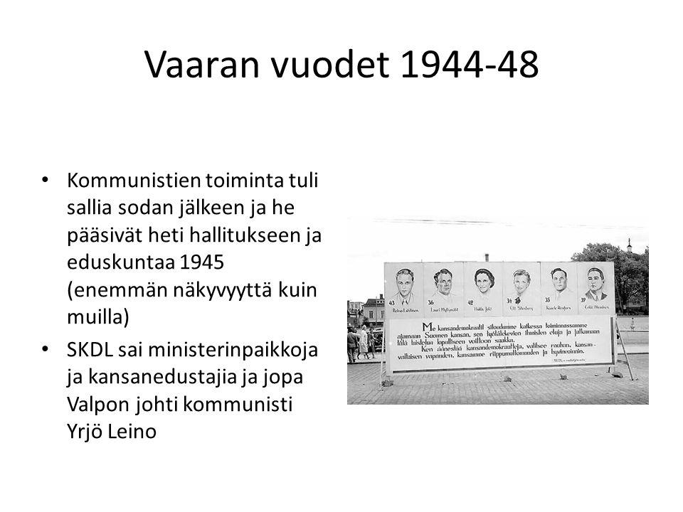 Vaaran vuodet 1944-48