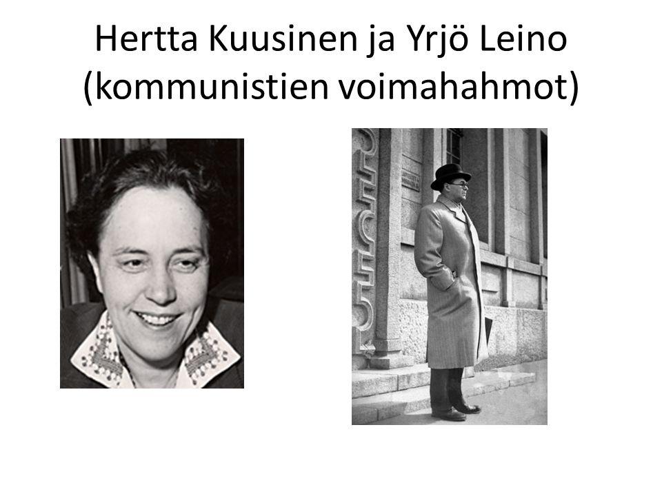 Hertta Kuusinen ja Yrjö Leino (kommunistien voimahahmot)