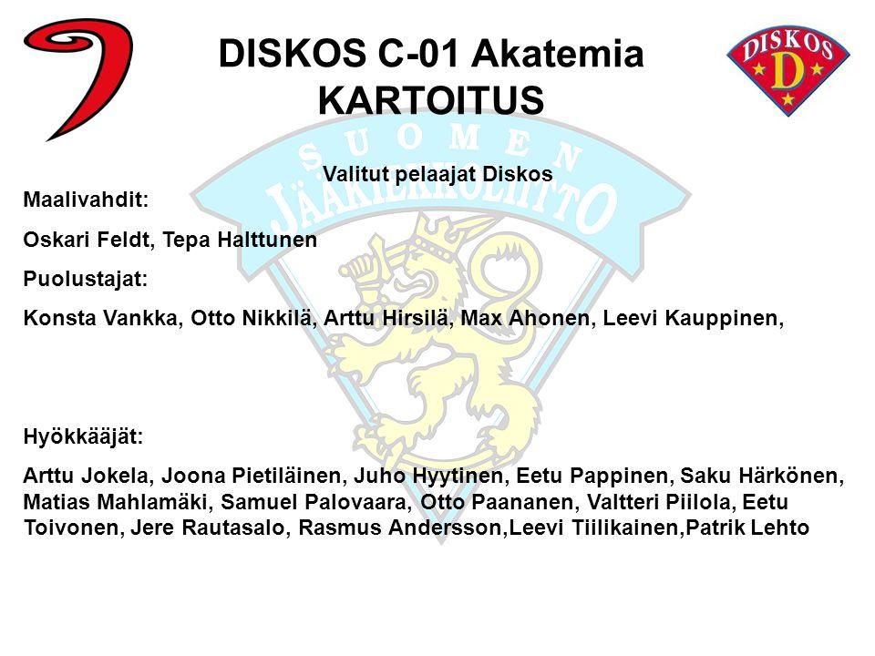 DISKOS C-01 Akatemia KARTOITUS Valitut pelaajat Diskos