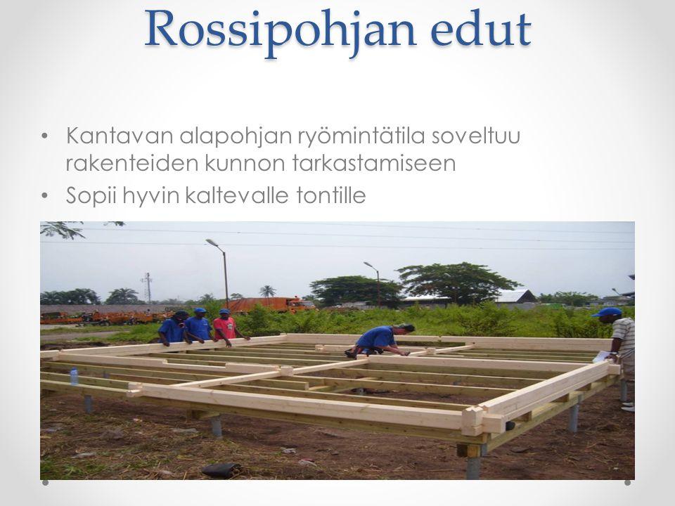 Rossipohjan edut Kantavan alapohjan ryömintätila soveltuu rakenteiden kunnon tarkastamiseen.