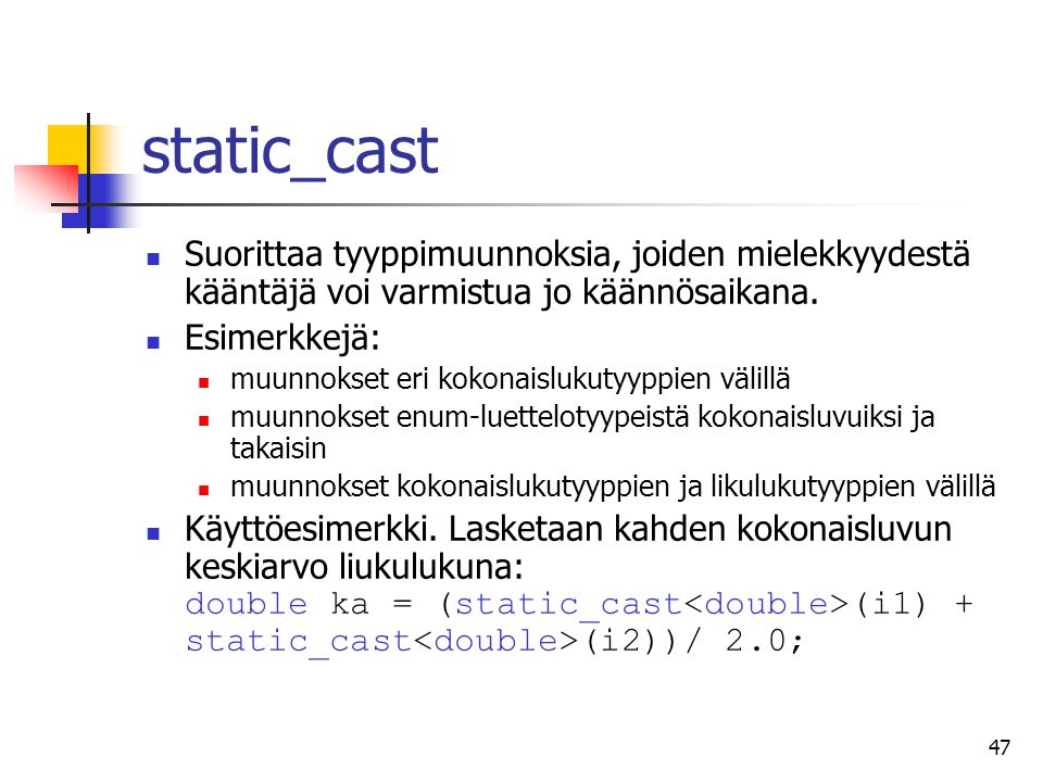 how to avoid c++ static cast