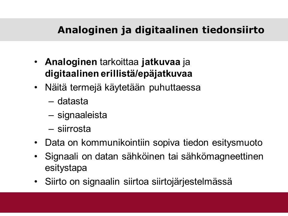 Analoginen ja digitaalinen tiedonsiirto