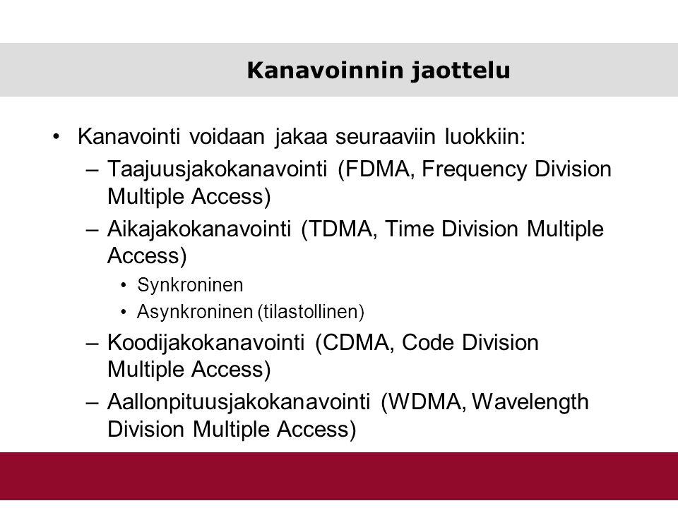 Kanavointi voidaan jakaa seuraaviin luokkiin: