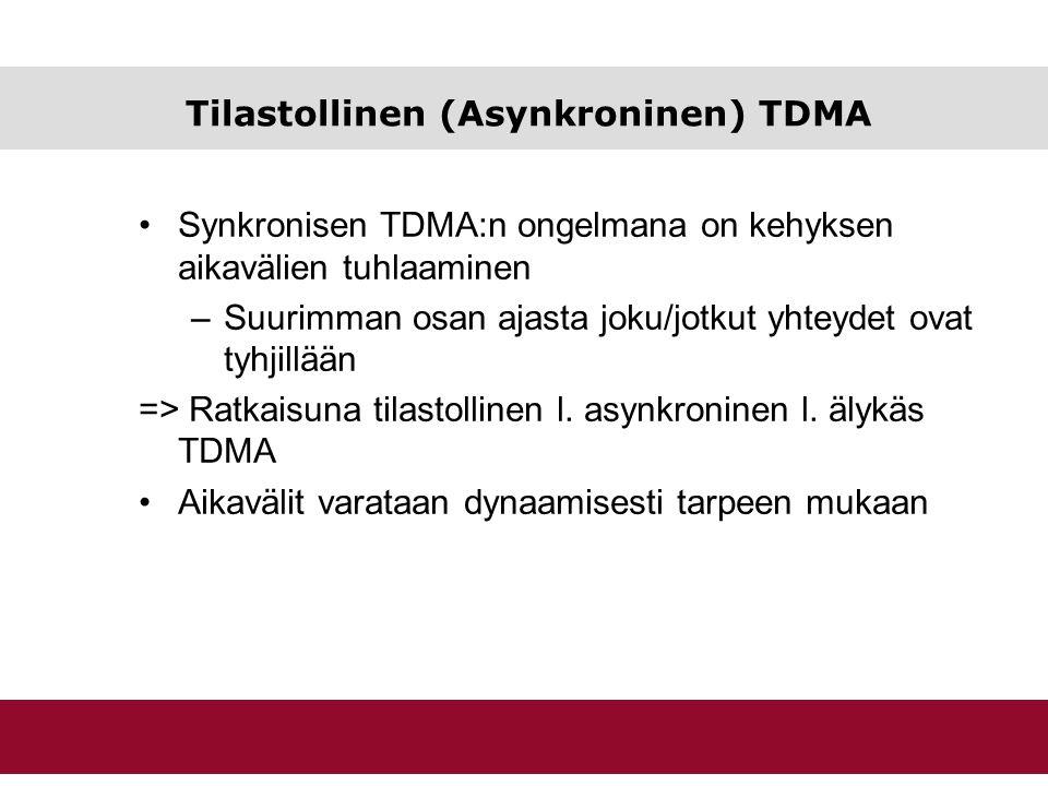 Tilastollinen (Asynkroninen) TDMA