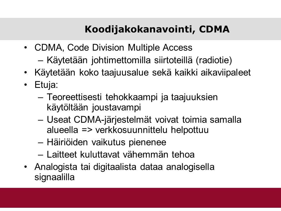 Koodijakokanavointi, CDMA