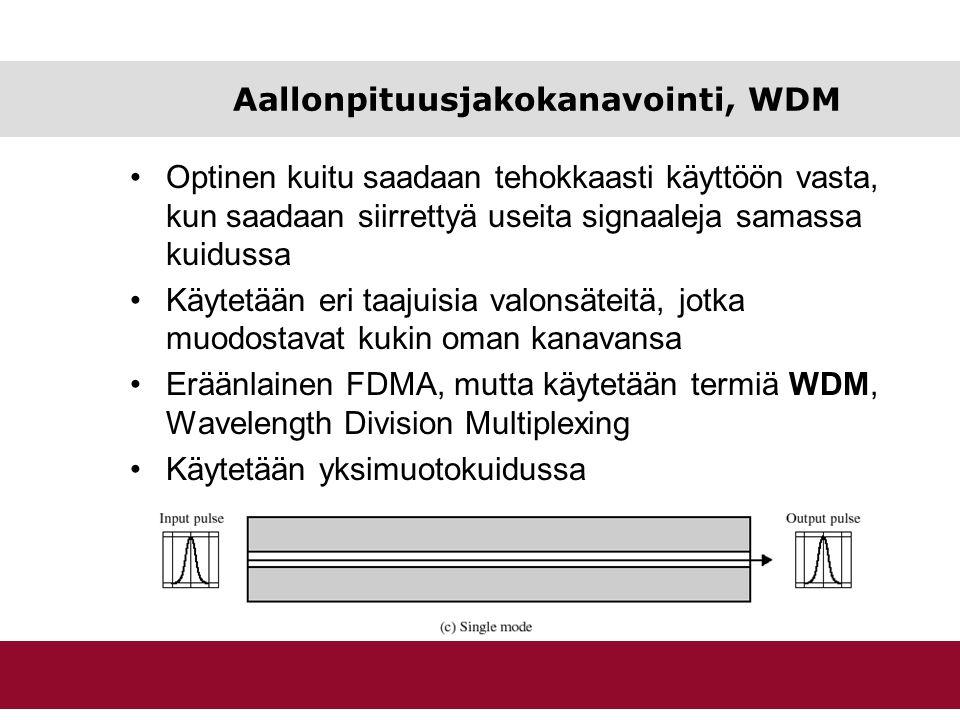 Aallonpituusjakokanavointi, WDM