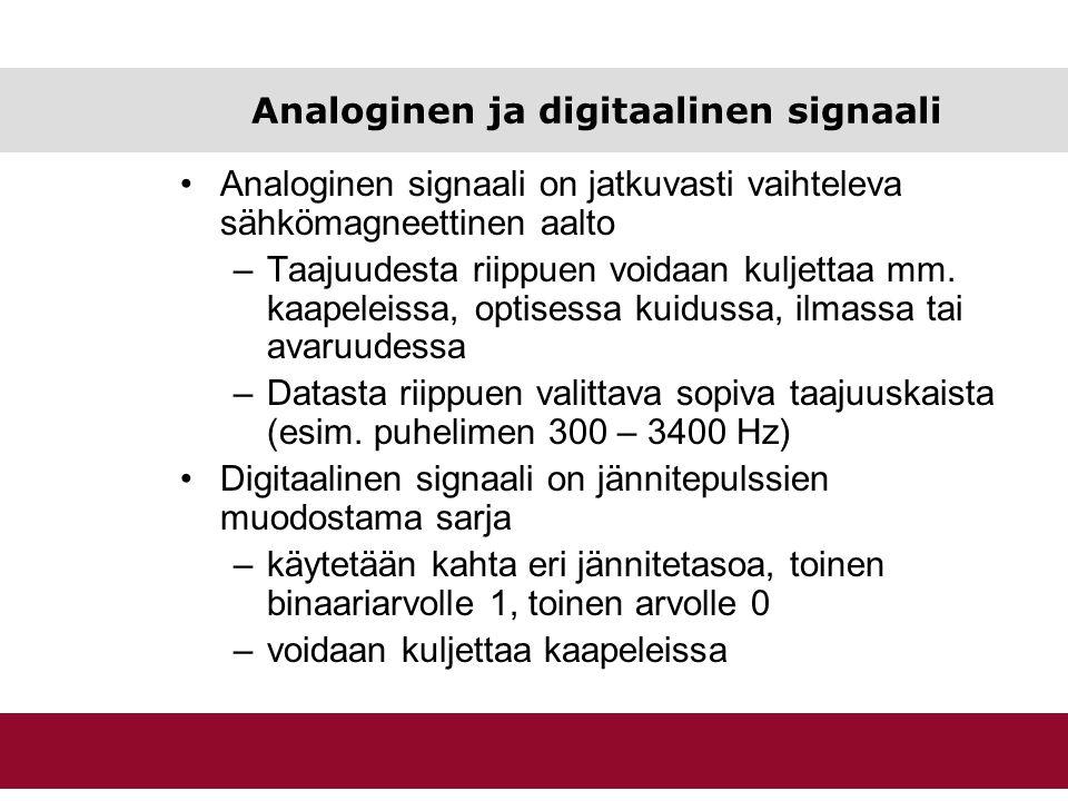 Analoginen ja digitaalinen signaali