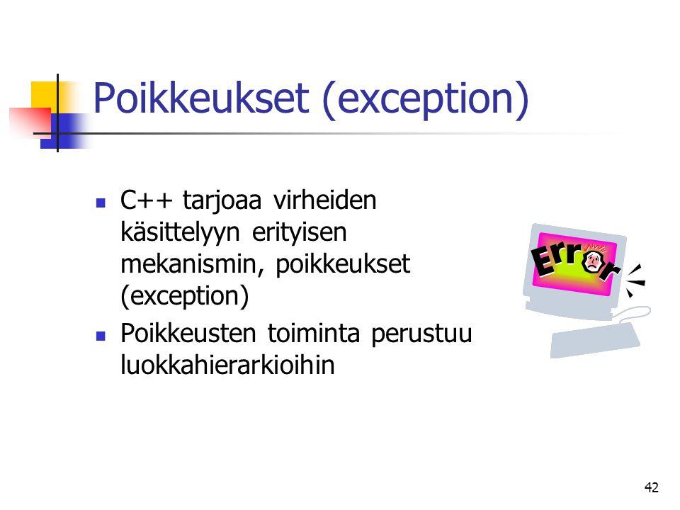 Poikkeukset (exception)