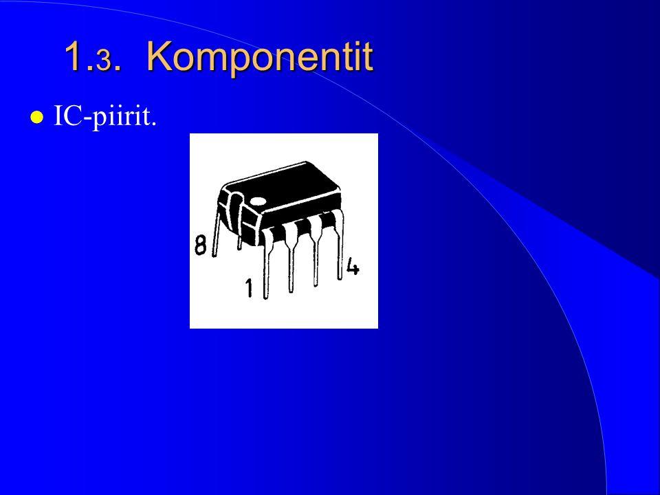 1.3. Komponentit IC-piirit.