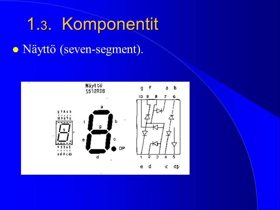1.3. Komponentit Näyttö (seven-segment).