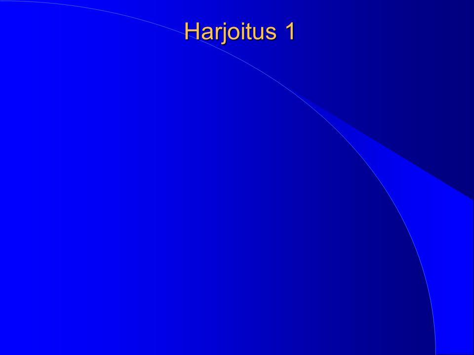 Harjoitus 1