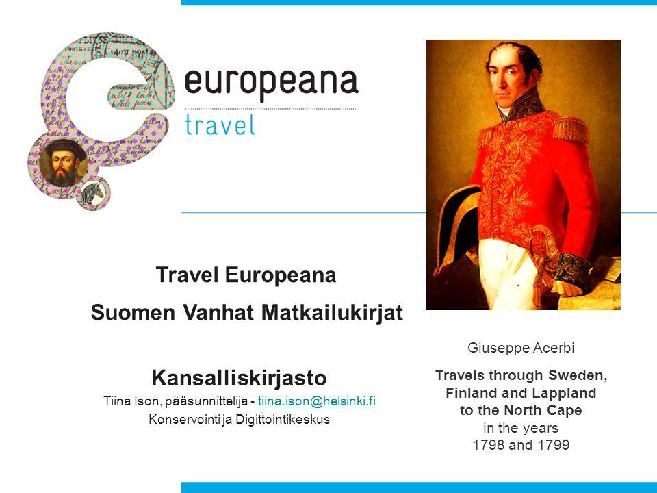 Travel Europeana Suomen Vanhat Matkailukirjat