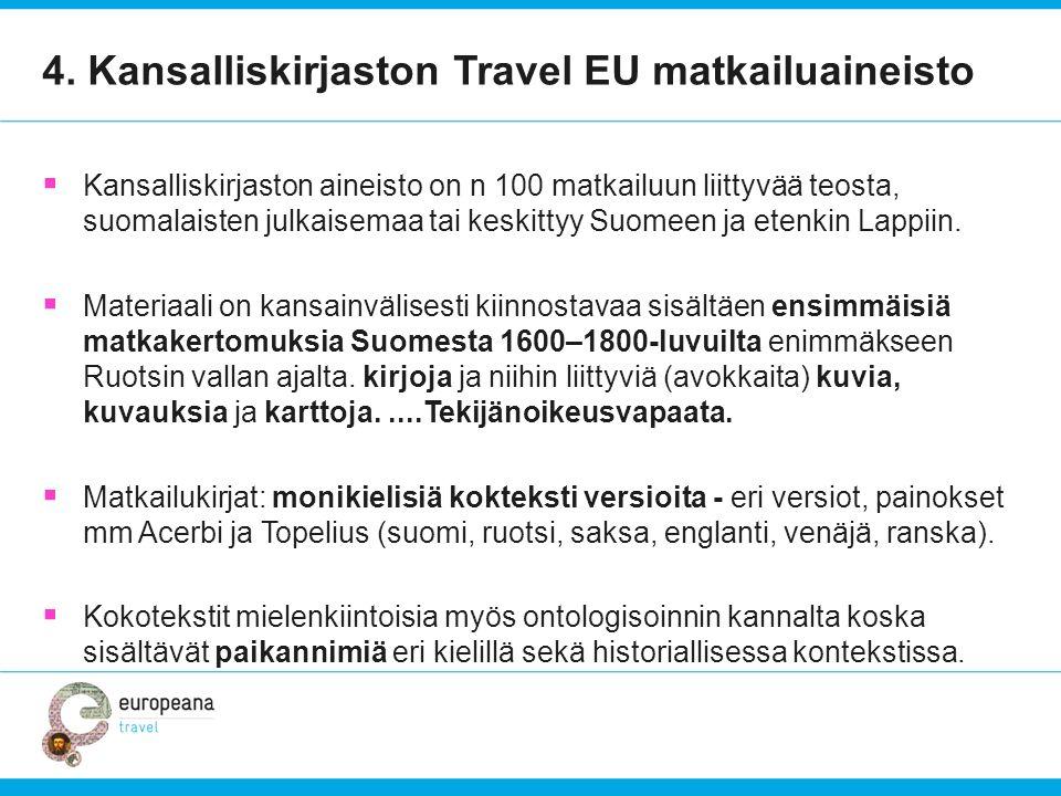 4. Kansalliskirjaston Travel EU matkailuaineisto