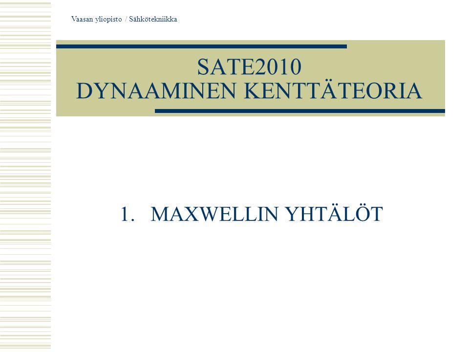 SATE2010 DYNAAMINEN KENTTÄTEORIA