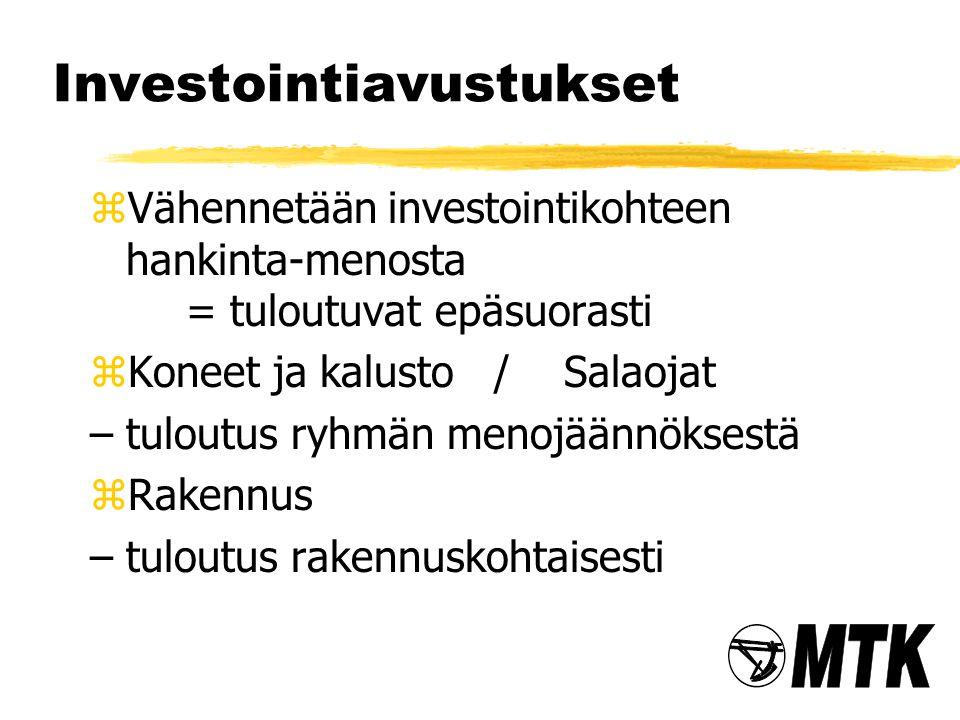 Investointiavustukset