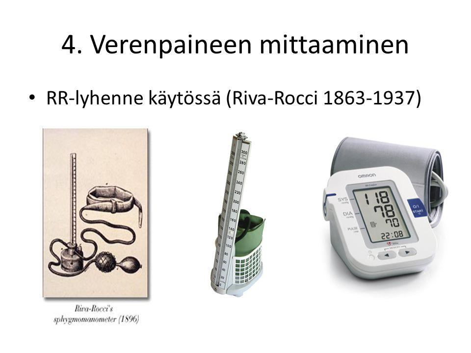 4. Verenpaineen mittaaminen