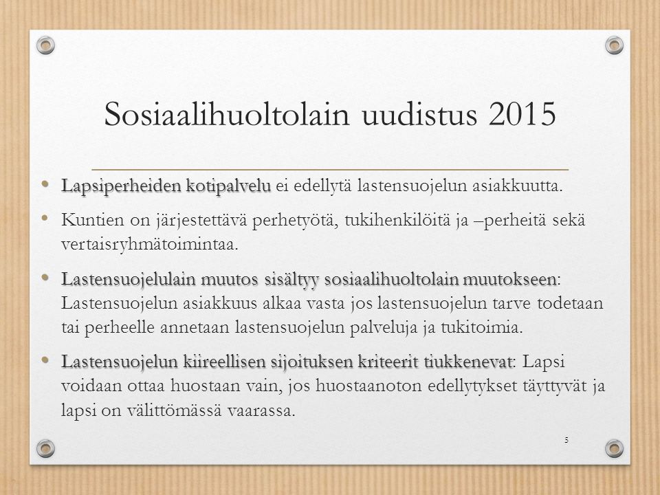 Sosiaalihuoltolain uudistus 2015