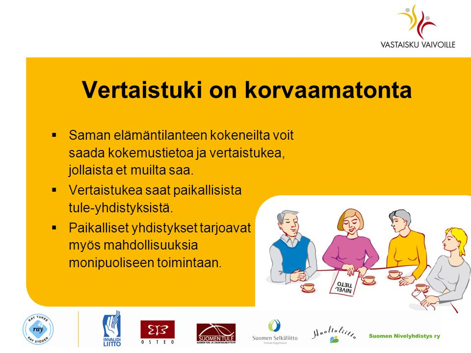 Vertaistuki on korvaamatonta