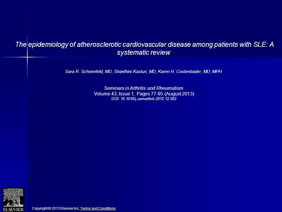The epidemiology of atherosclerotic cardiovascular disease among patients with SLE: A systematic review