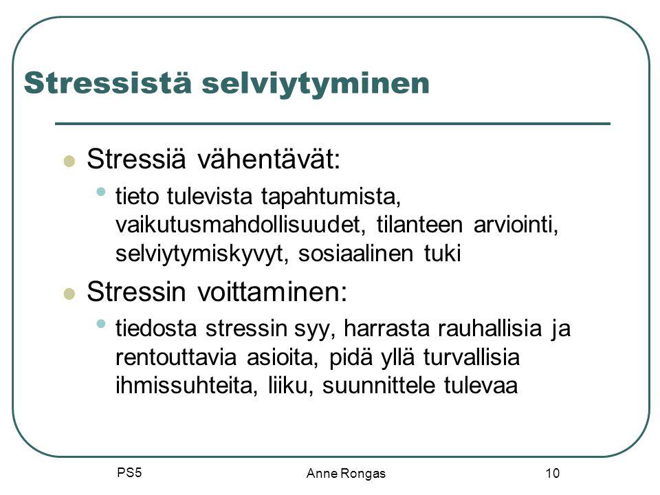 Stressistä selviytyminen