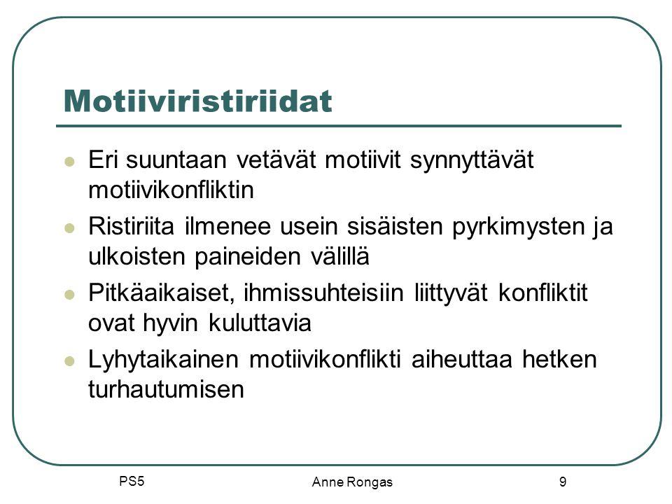 Motiiviristiriidat Eri suuntaan vetävät motiivit synnyttävät motiivikonfliktin.