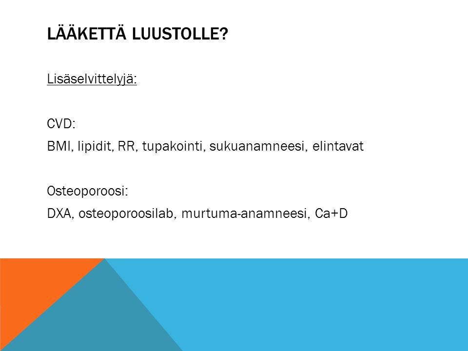 LÄÄKETTÄ LUUSTOLLE
