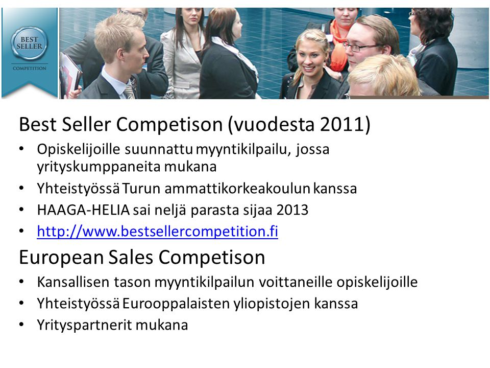 Best Seller Competison (vuodesta 2011)