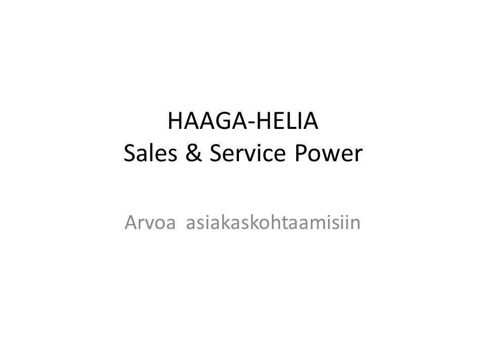 HAAGA-HELIA Sales & Service Power