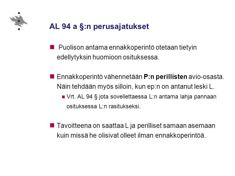 AL 94 a §:n perusajatukset
