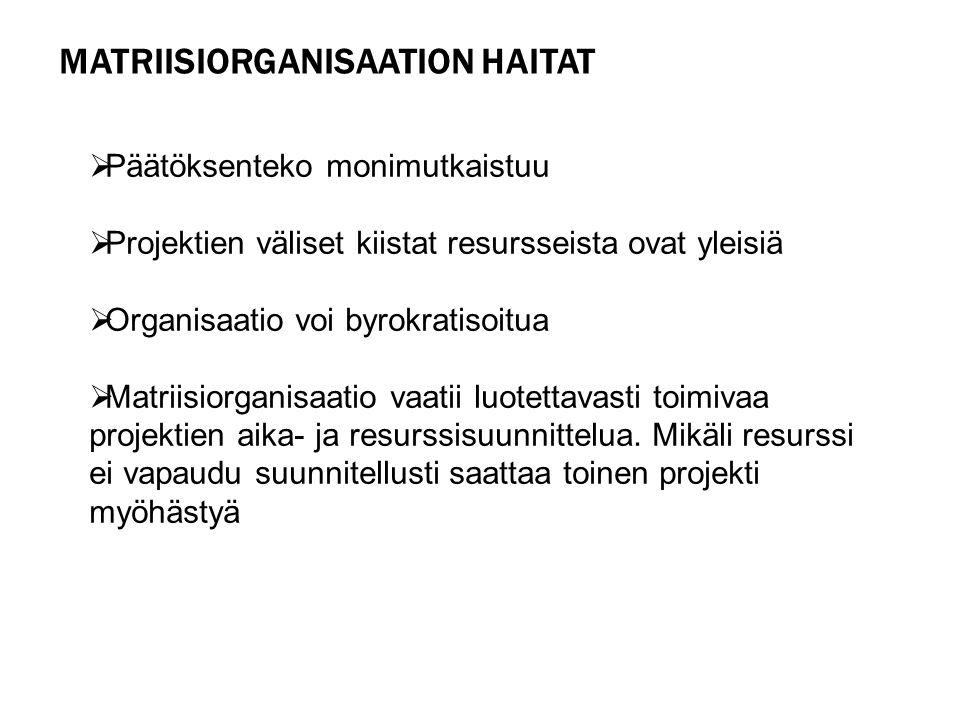 Matriisiorganisaation haitat