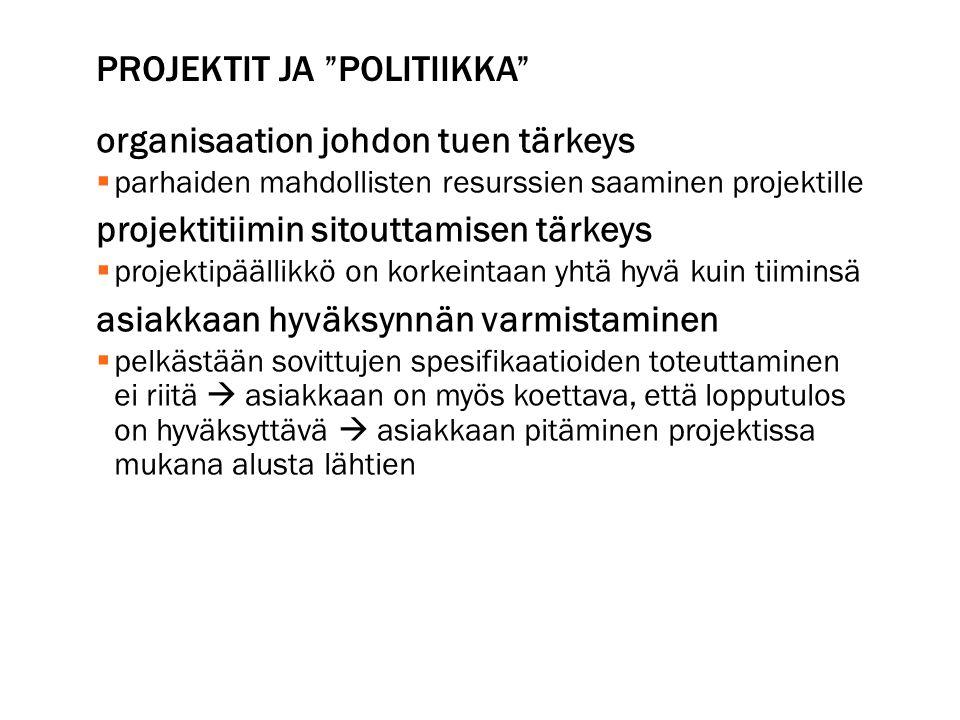 Projektit ja politiikka
