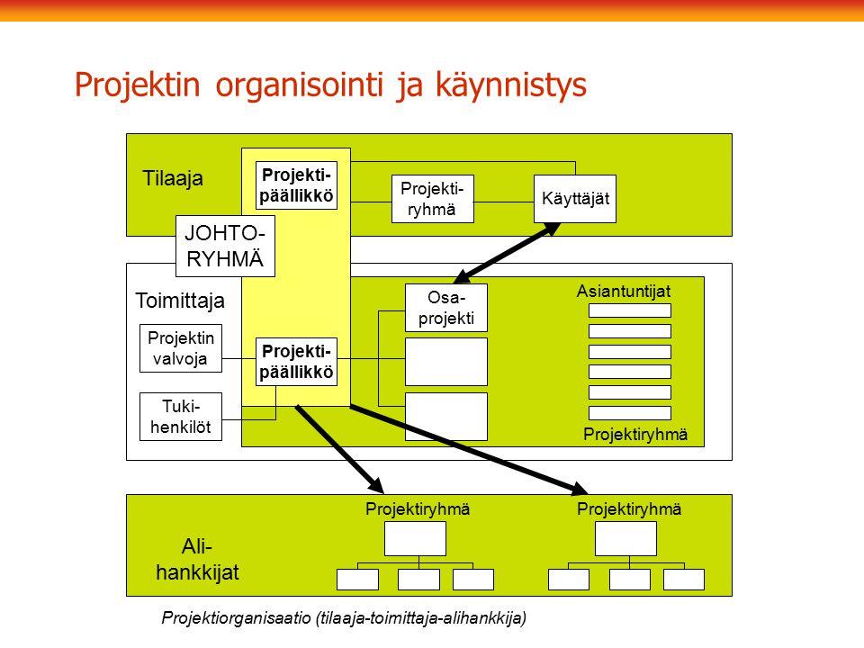 Projektin organisointi ja käynnistys