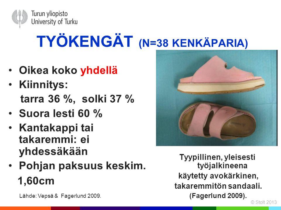 Työkengät (n=38 kenkäparia)