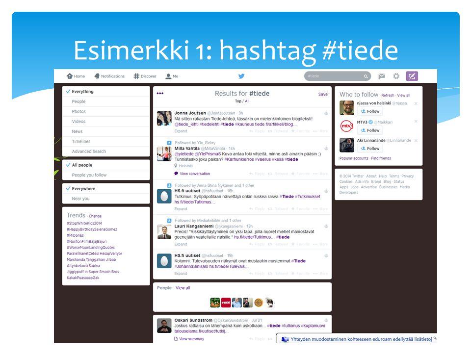 Hashtag suomeksi
