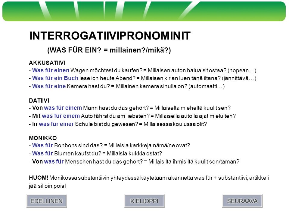 INTERROGATIIVIPRONOMINIT