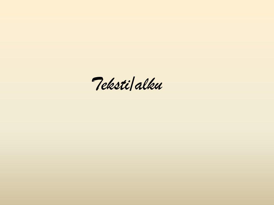 Teksti/alku