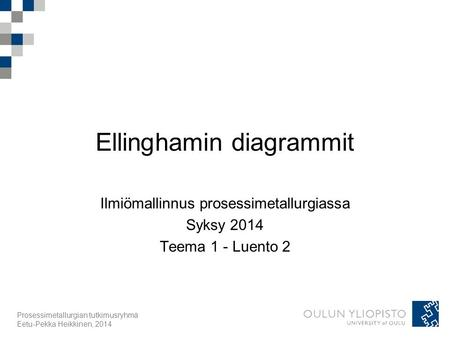Ellinghamin diagrammit