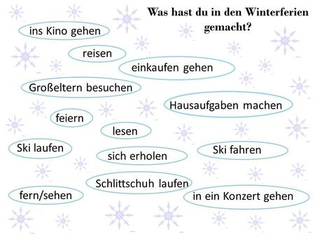 Was hast du in den Winterferien gemacht?
