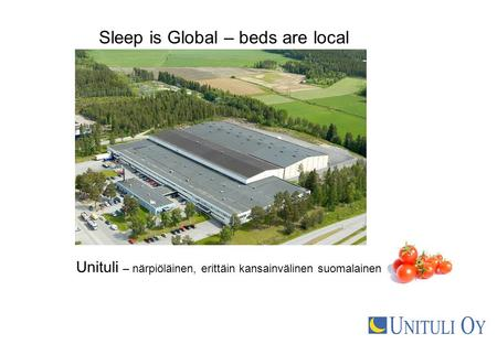 Sleep is Global – beds are local