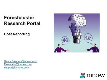 Forestcluster Research Portal Cost Reporting