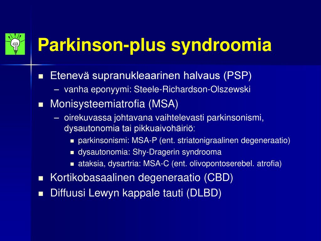 Parkinson-plus syndroomia