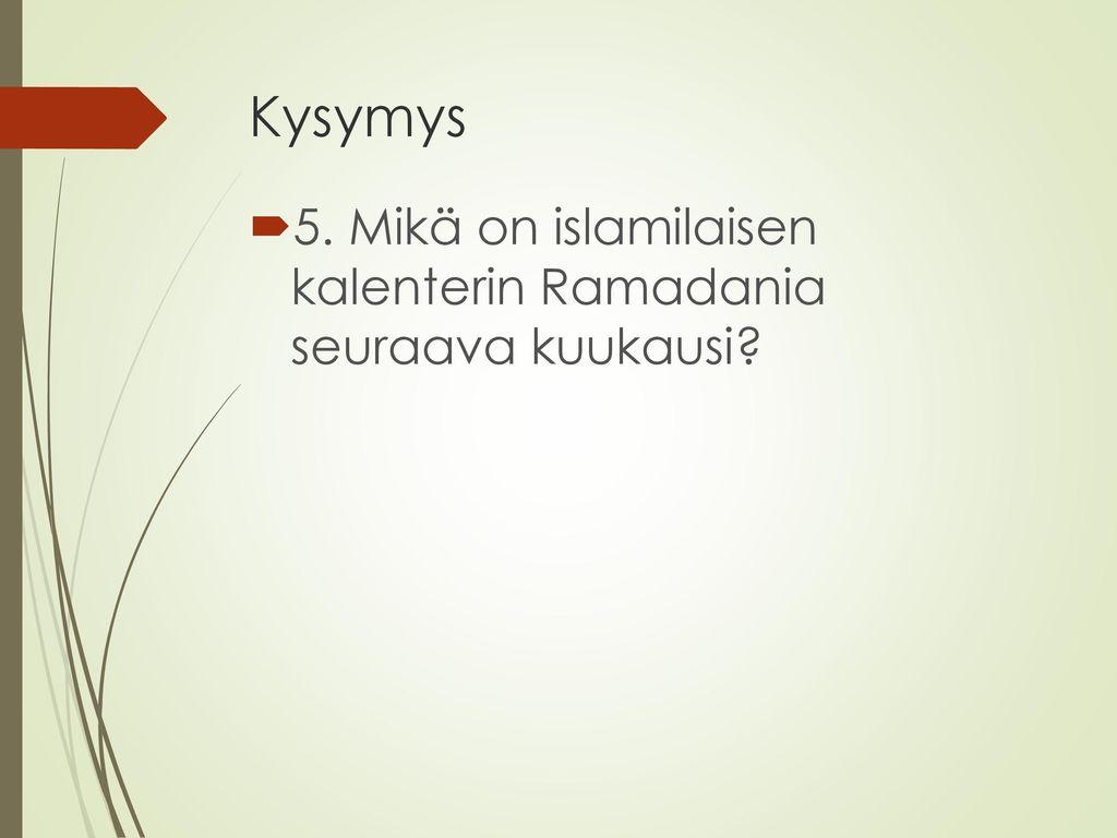 Dating muslimi aikana Ramadanin