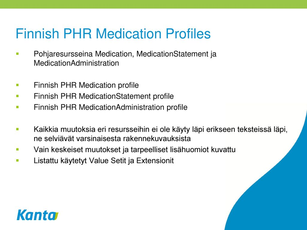 Finnish PHR Medication Profiles