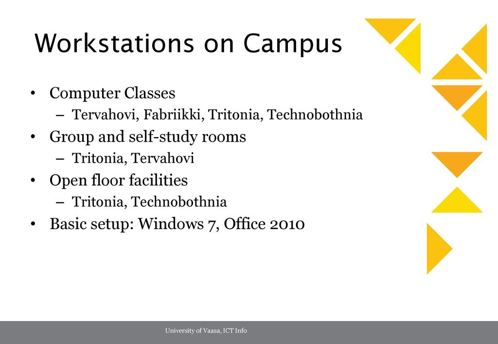 Workstations on Campus
