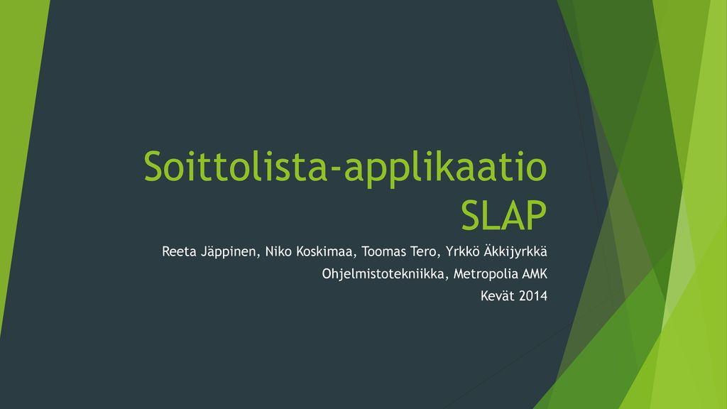Soittolista-applikaatio SLAP
