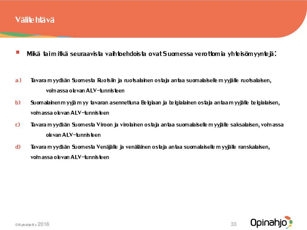 Mitä alennettuja ALV-kantoja Suomessa on?