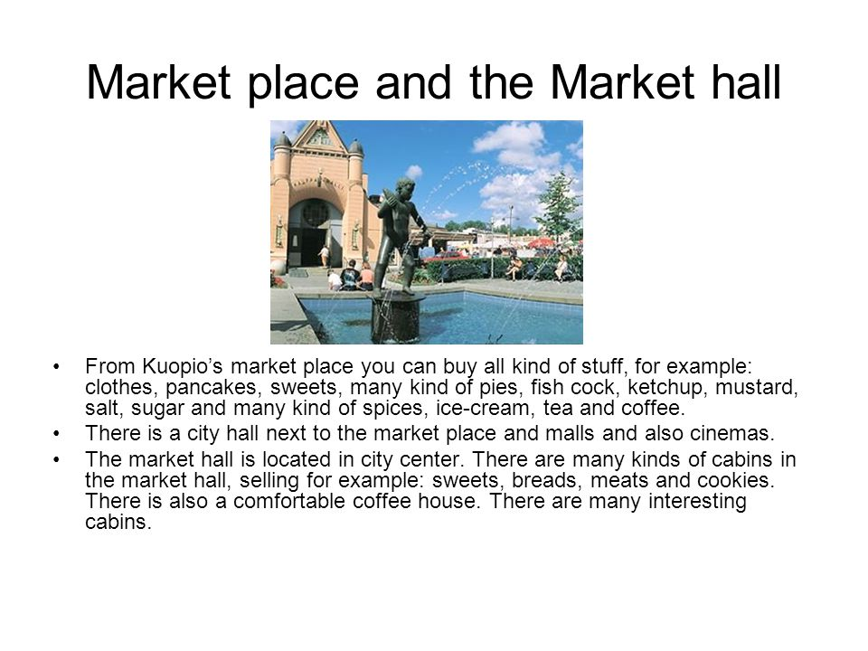 Market place and the Market hall